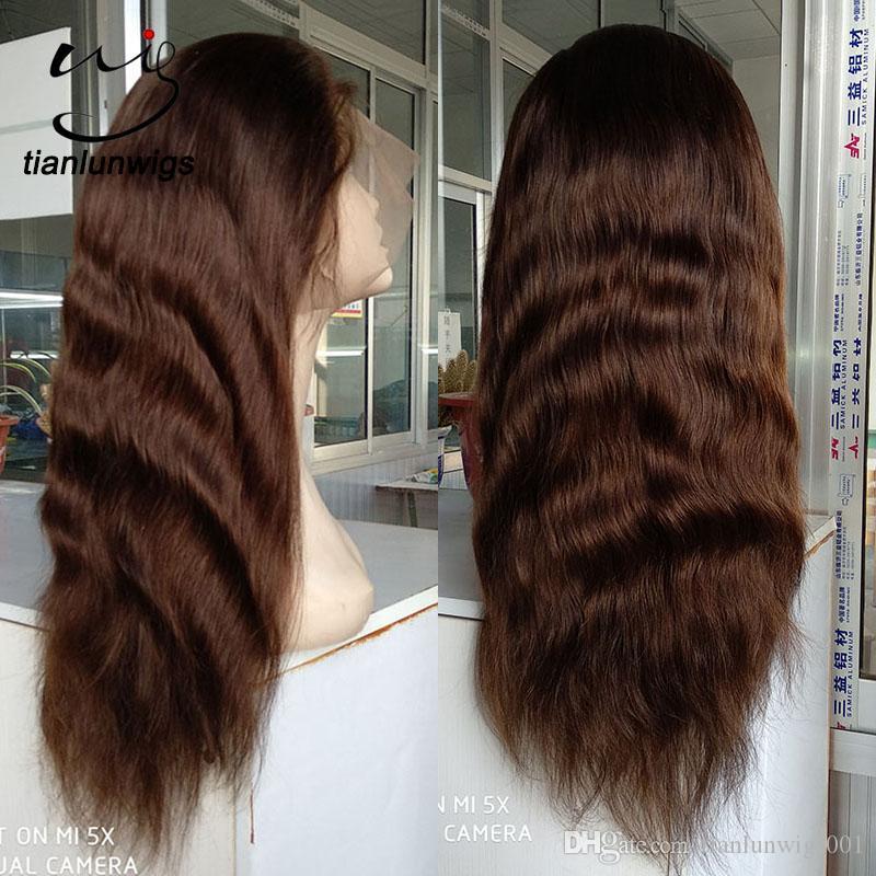Sıcak satmak ürünleri doğal kafa derisi peruk 180 yoğunluk saç tam dantel peruk dantel ön peruk, satılık küçük miktar sipariş ön dantel peruk