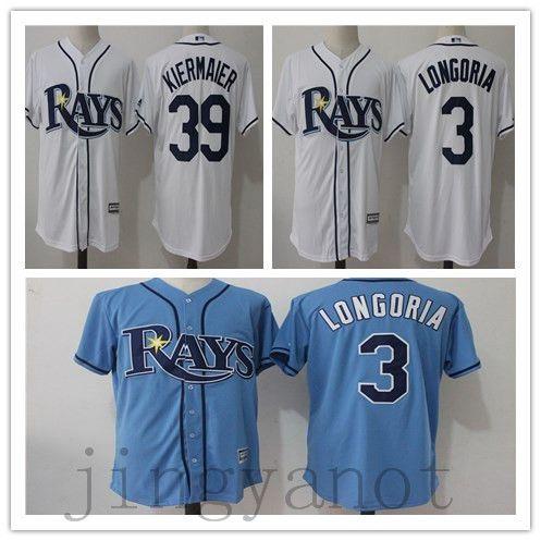 0c583c0f1 ... Hot Sale Men Tampa Bay Rays baseball jerseys 3 Evan Longoria 39 Kevin  Kiermaier ...