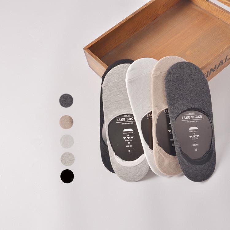 Freies Verschiffen-Sommer-neue Männer Slipper Socken Solid Color unsichtbare ultradünne Socken Hausschuhe Breathable Anti-Rutsch-Socken Kurz