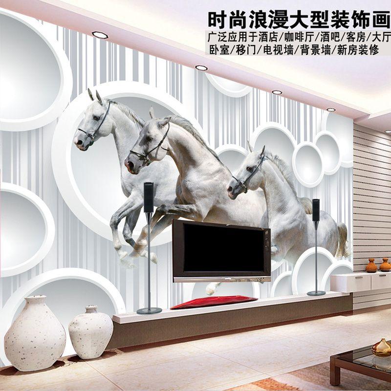 3d Horse Wallpaper Personalized Custom Photo Wallpaper Restaurant