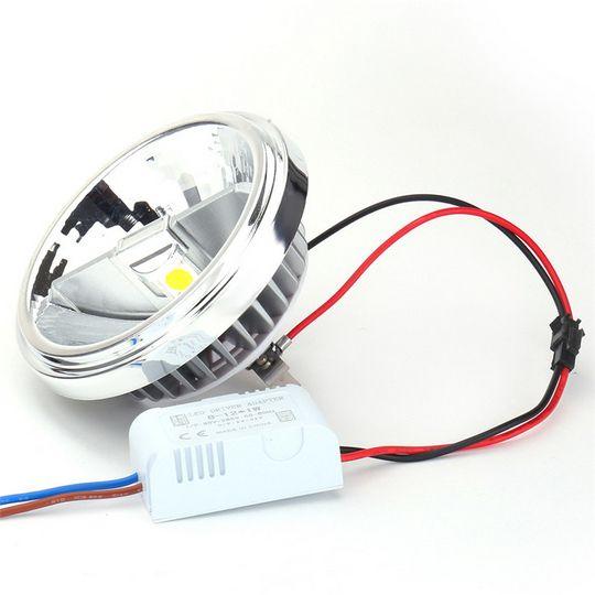 Lampe COB AR111 LED 15W G53 Spotlight boîtier en aluminium AC85-265V blanc chaud / froid équivalent à la lampe halogène 100W pour l'éclairage domestique