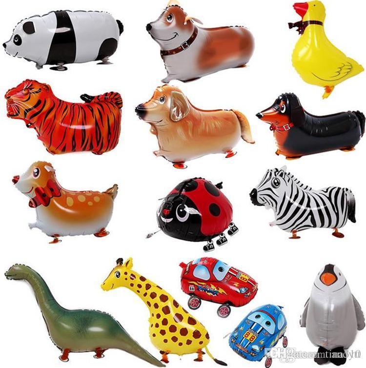 Andando Animal de Estimação Hélio Balão De Alumínio Folha de Balão Automático de Vedação Crianças Balão Brinquedos de Presente Para O Casamento de Natal Fontes da Festa de Aniversário 3002