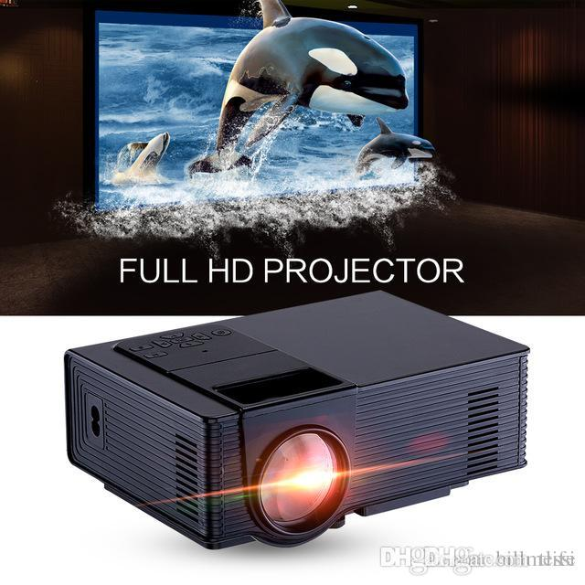 Mini LED Projector Full HD 1500 Lumens 800 x 480 Pixels 0.9-6M Home TV Media Player Portable Home Theater Proyector Hot +NB