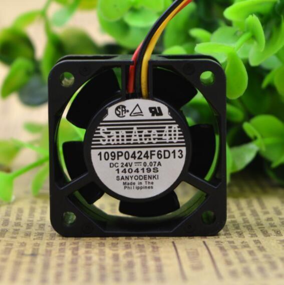 SANYO 24 V 0.07A 4 CM 40 * 40 * 15 109P0424F6D13 3 tel testi alarmı CNC makine aracı özel fan