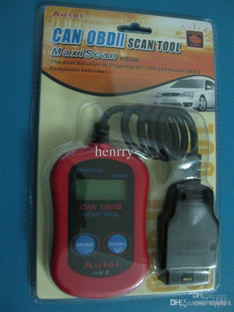 Читатель кода шины автомобиля читателя кода кода MS300 Autel MaxiScan MS300 может инструмент блока развертки OBDII автомобильный диагностический