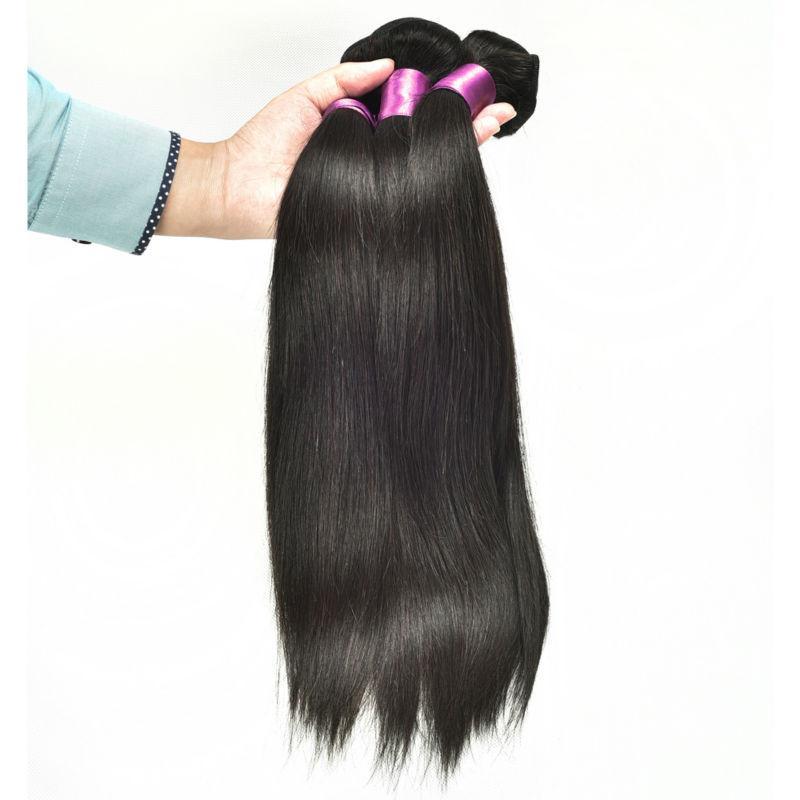 캄보디아 페루 브라질 말레이시아 인도 몽골어 스트레이트 인간의 머리카락 직물 5pcs 많이 뜨거운 품질 진짜 버진 브라질 헤어 번들