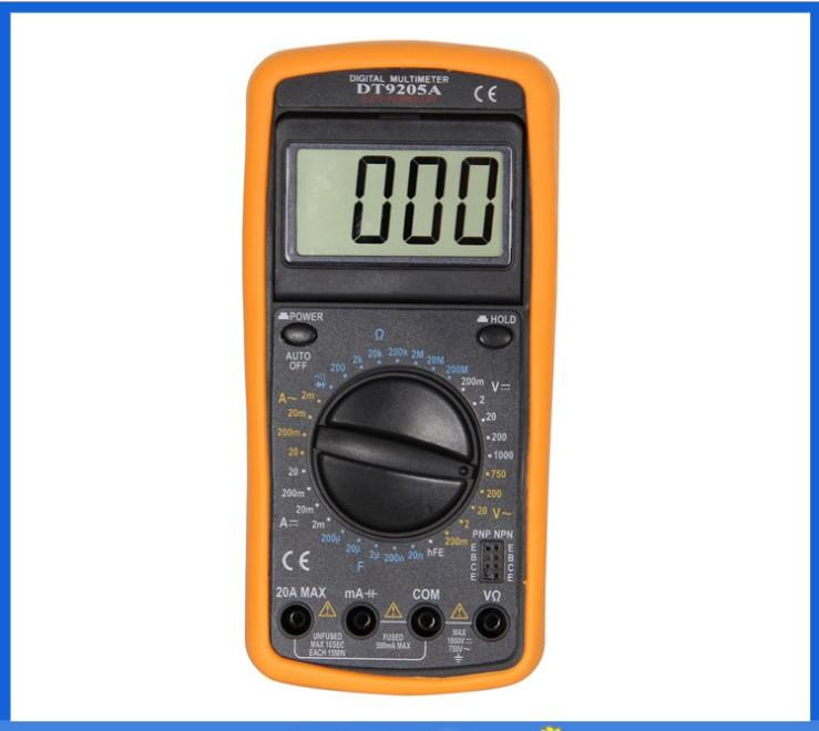 DT9205A Digital AC//DC elektrische Handheld Amperemeter Kapazität Widerstand