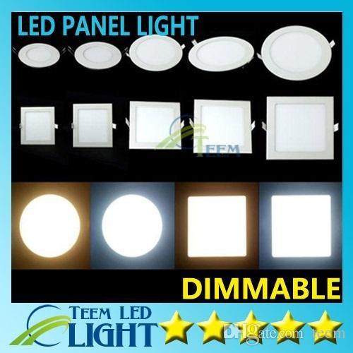 Painel de Led Regulável Luz SMD 2835 3W 9W 12W 15W 18W 21W 25W 110-240V levou teto recesso para baixo SMD2835 downlight lâmpada + motorista 0000