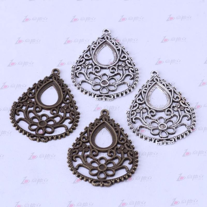 Encantos de la pera hueco vintage antiguo plata / aleación de bronce colgante de zinc collar colgante de joyería DIY 50pcs / lot 3355z