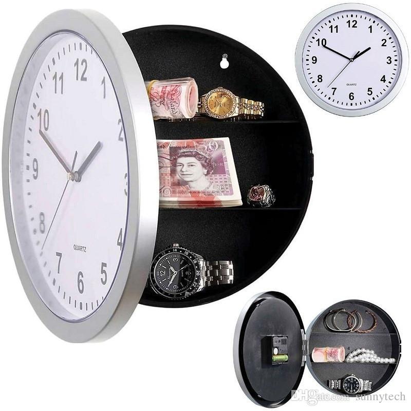 Acheter Boîte De Rangement Horloges Caché Secret Horloge Murale