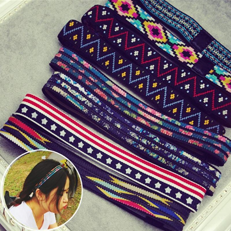 Women Lady Girls Crochet Headband Boys Men Hip-Hop Yoga Sweatband Knitted Elastic Wrap Ear Hairband HeadWrap Band Accessores