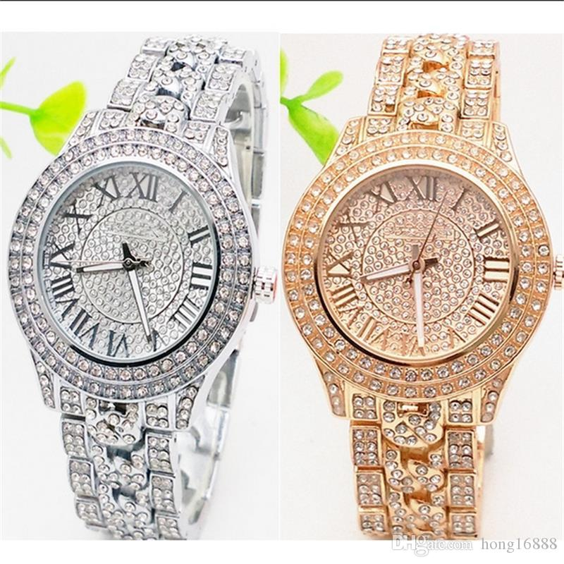 Rose Gold Luxury Casual Men Watch Dress Quartz Watches with Calendar Women Bracelet Style stainless steel band free shipping wholesale