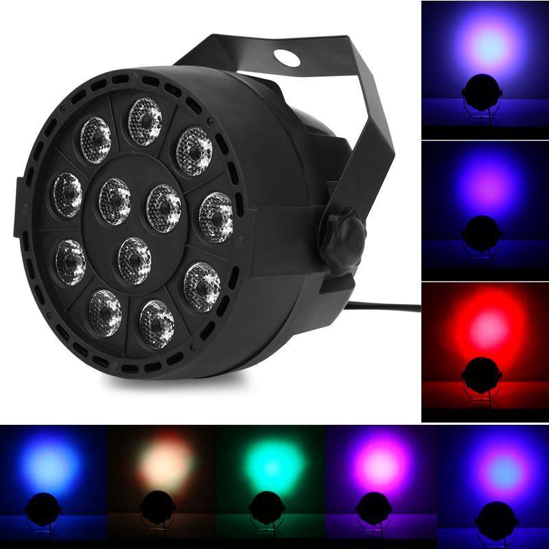 Flat LED Par RGBW DMX512 Lampada da palco Lampada da palco Attivazione vocale Per Discoteche Musica Light Disco Bulb effetto luci discoteca