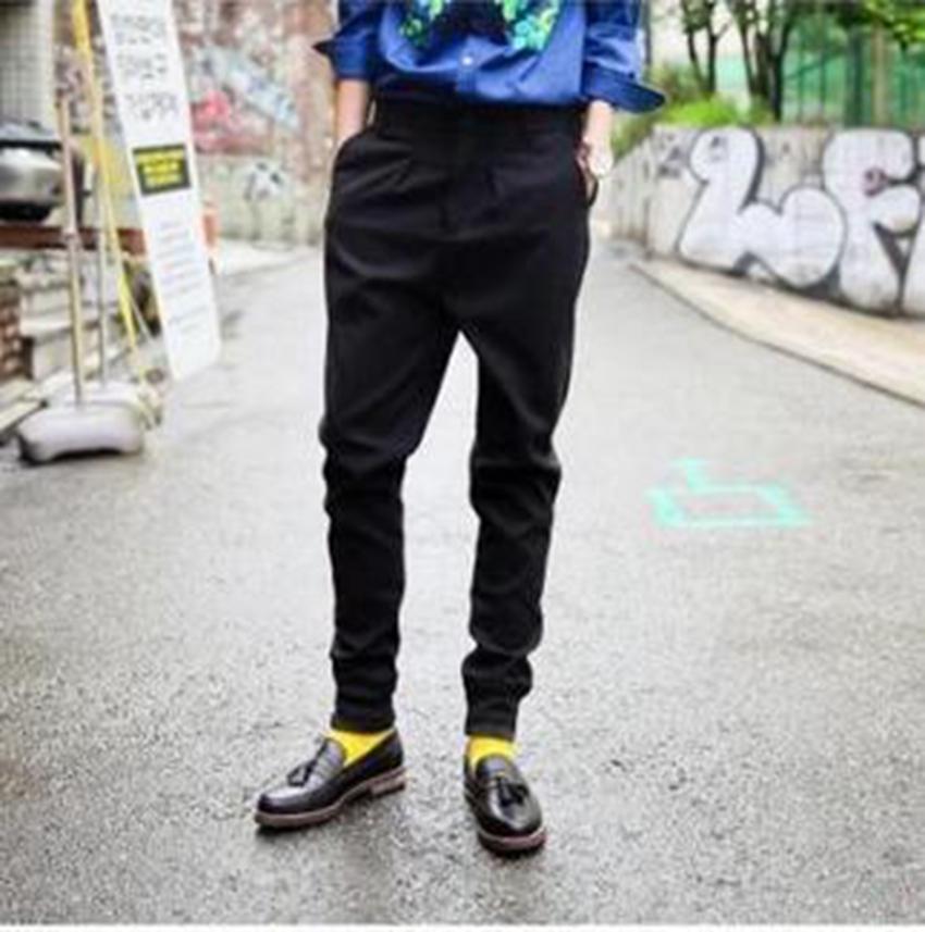 Men's leisure han edition of the new fashion personality spring feet feet pants haroun pants big yards / custom