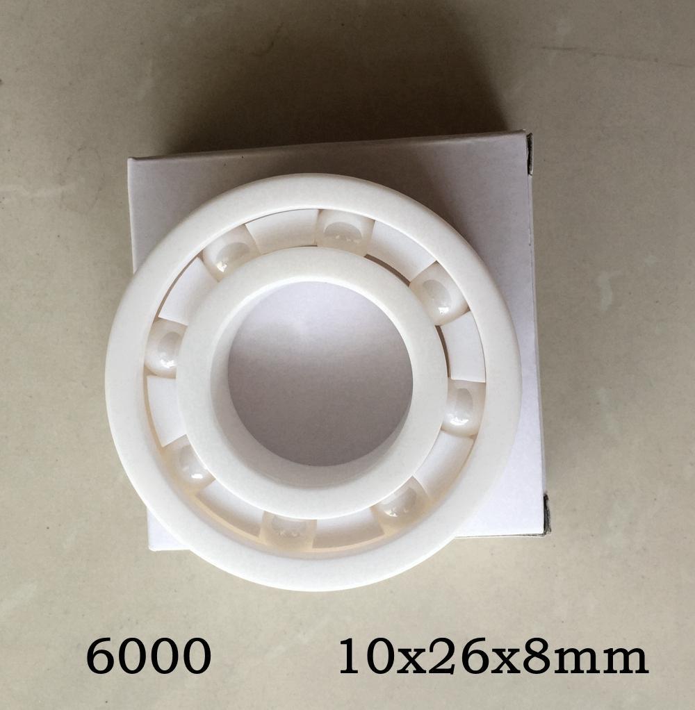 10pcs 6000 전체 세라믹 베어링 10x26x8 mm 지르코니아 ZrO2 세라믹 베어링 10 * 26 * 8 mm