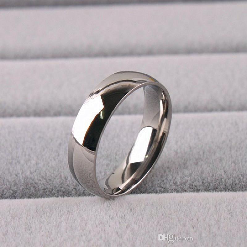 lotti all'ingrosso all'ingrosso 36pcs anelli d'argento di modo dei monili di aggancio di cerimonia nuziale dell'acciaio inossidabile lucidato banda