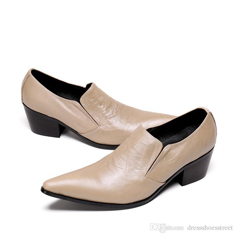 New Italian Hommes Chaussures formelles solides en cuir véritable Toe hommes robe Pointu chaussures homme de bal Paty mariage d'affaires Chaussures en cuir hommes
