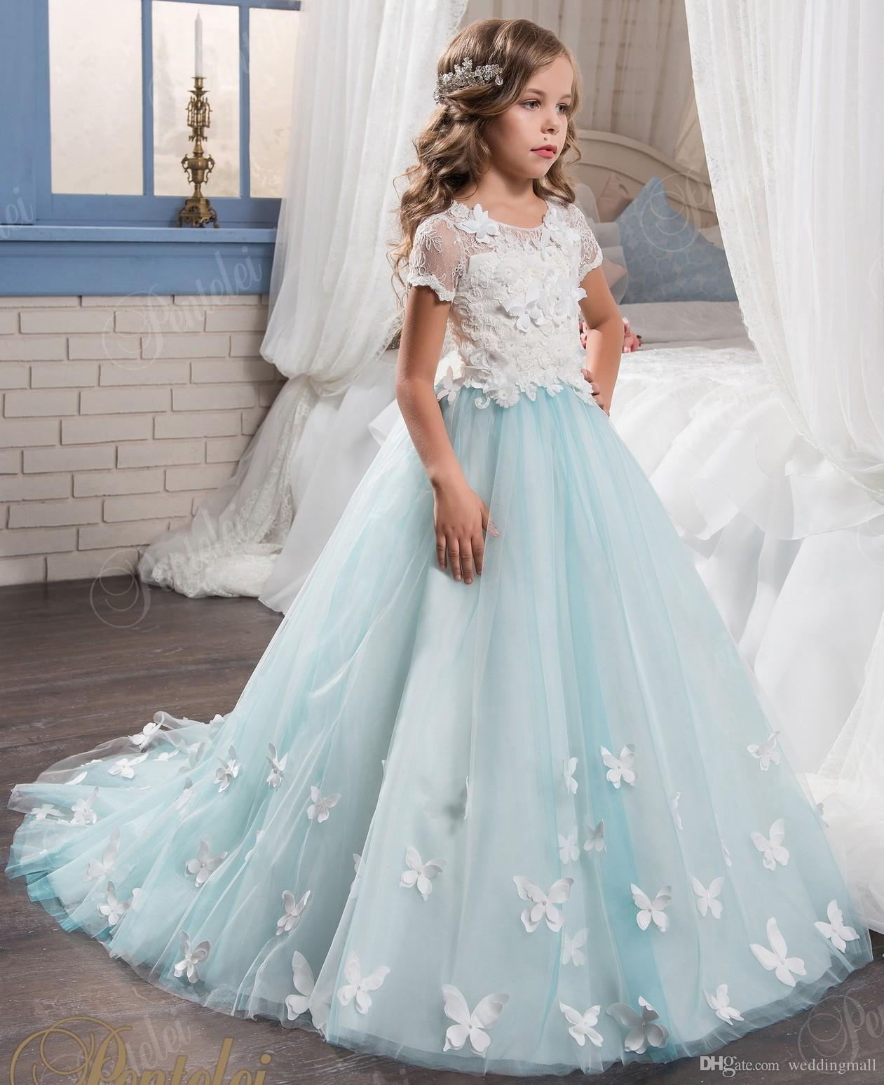 Princess Vintage 3d Floral Flowers Arabic 2017 Flower Girl Dresses ...