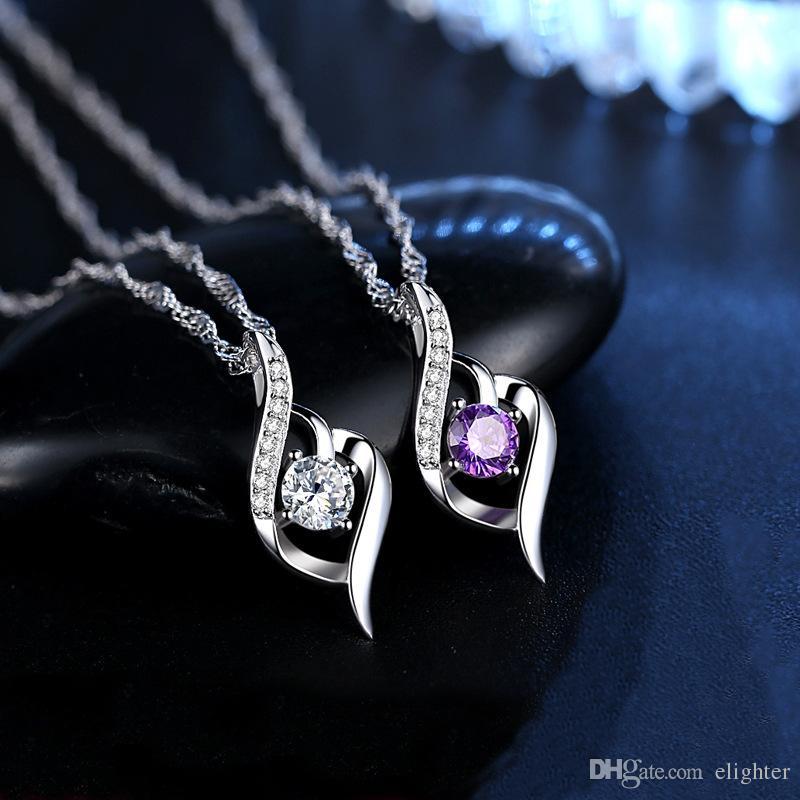 Collier Pendentifs Bijoux Bijouterie Mode Fille Bijoux pierre colliers romantiques Pendentifs de mode bijoux en gros Collier cadeau