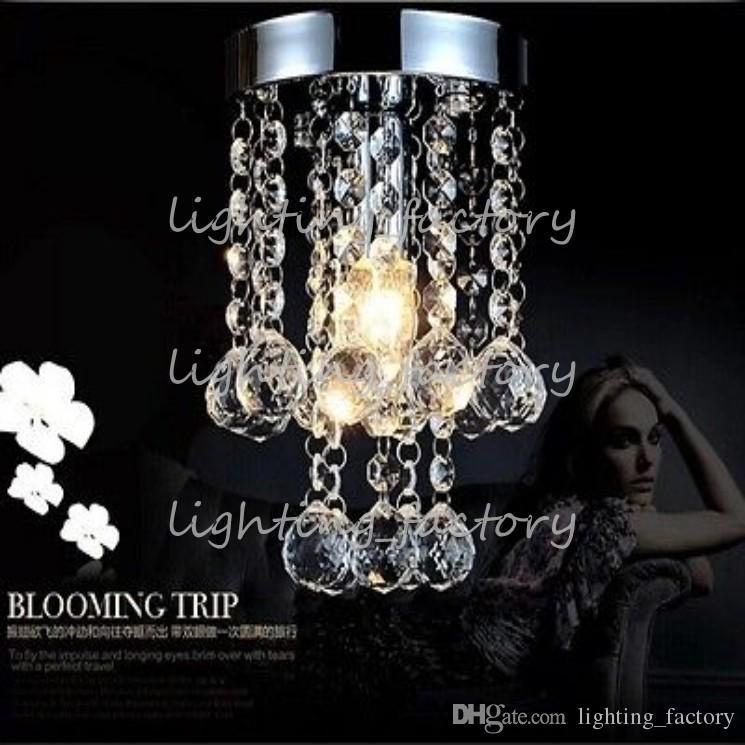 Lampadario in cristallo chiaro Mini Lampadario Piccolo cristallo trasparente Lustre Lampada per corridoio Corridoio Luce per corridoio
