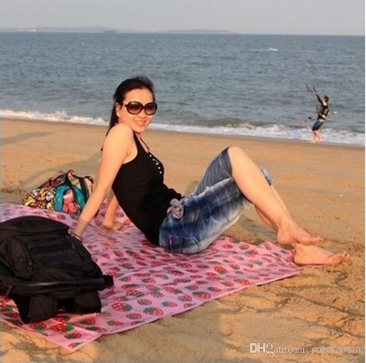 Atacado 50 pçs / lote 180 * 160 cm À Prova D 'Água Ao Ar Livre Camping Criança Cobertor Do Bebê Crawling Mat Tapete De Praia Tapete De Piquenique