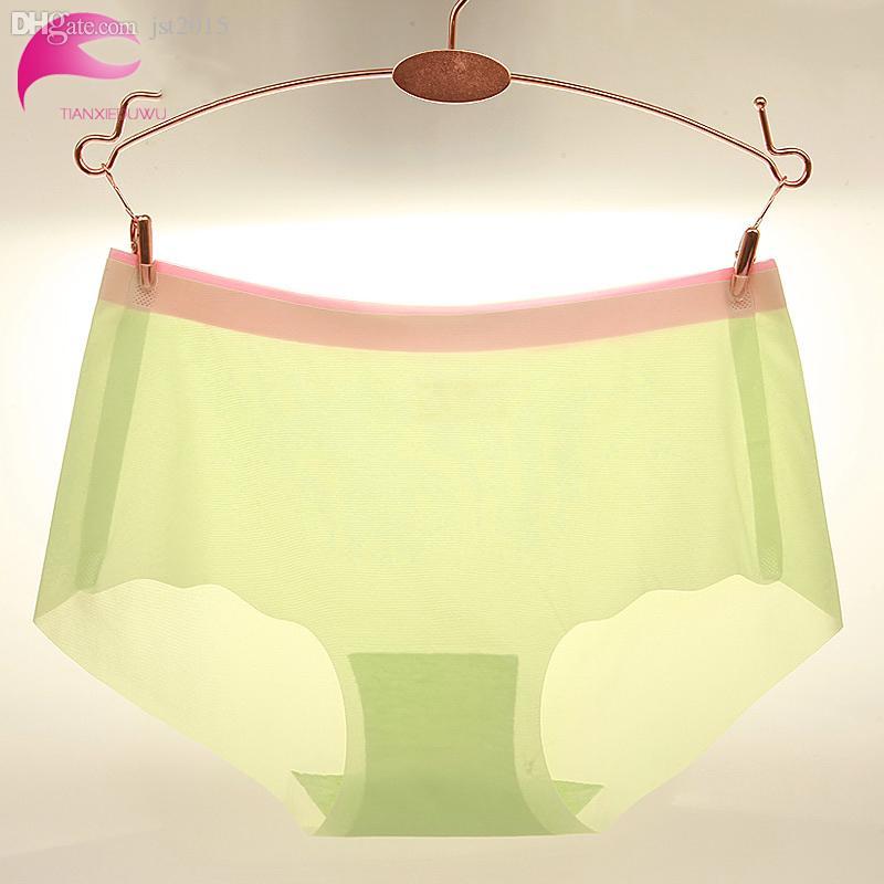 Оптовая продажа-горячие продажи летние бесшовные Женские трусики 82% нейлон ультра-тонкий сексуальные женщины трусы плюс размер женское нижнее белье шелк льда трусики