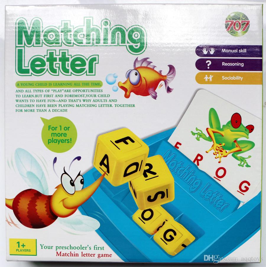 matching letter game alphabet letters card learn english language word abc puzzle children educational toys learning machines