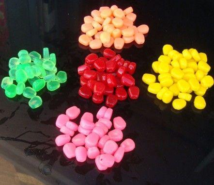 50pcs Karpfenangeln Mai Promotion Köder 5 Farben Gummiköder Simulation Corn Carp weiche Fischköder Tackles mit starkem Geruch Corn