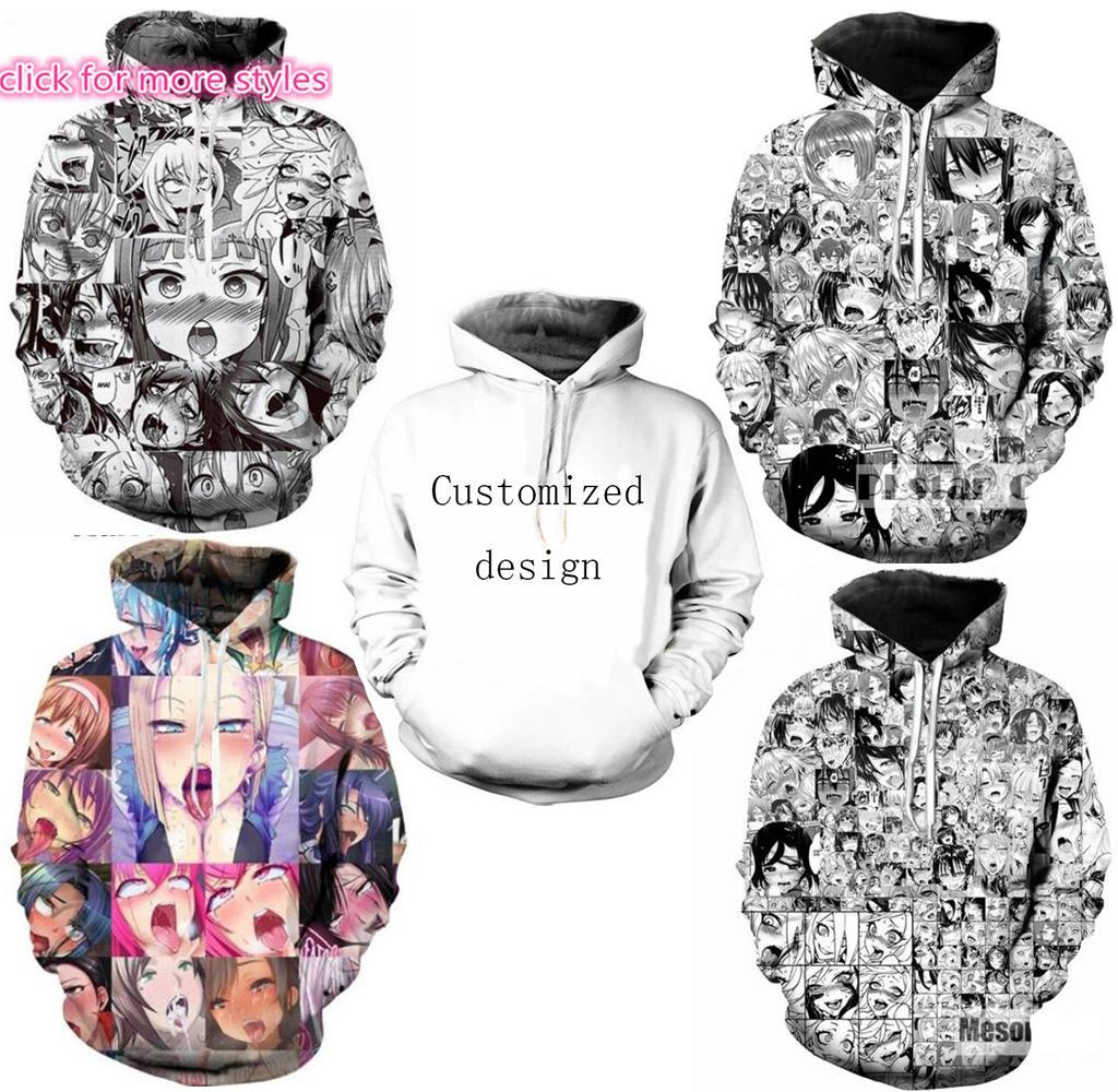 3D Print Mens Womens  Hoodie Sweater Sweatshirt  Anime girl Jacket Pullover Tops