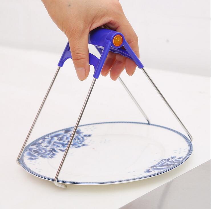 스테인리스 걸릴 사발 클립 장치 실리콘 고무 자석 접시 그릇 전자 레인지 팔걸이 주방 도구 Scald Dishes Clamp