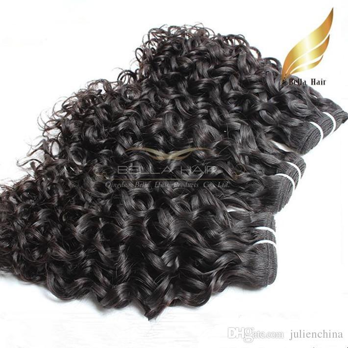 bonne qualitecheveux bresilien vierge Extentions couleur natrel 2pcs/Lot Human Hair Wavy Water Wave Hair livraison gratuit