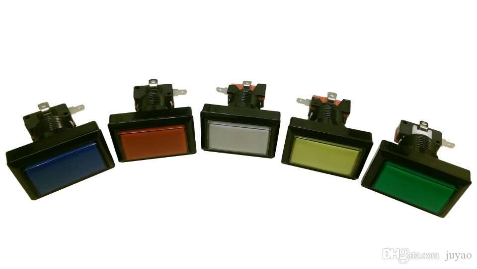 12 جهاز كمبيوتر شخصى من المستطيل زر مضاءة مضيئة مستطيل دفع زر مع microswitch لآلة لعبة الورق