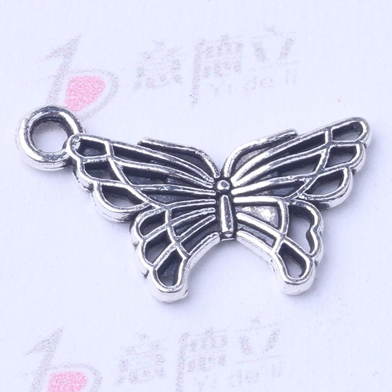 Butterfly Pendant Fit Bracelets or Necklace retro antique Silver/bronze Charms DIY Jewelry 500pcs/lot 3006z