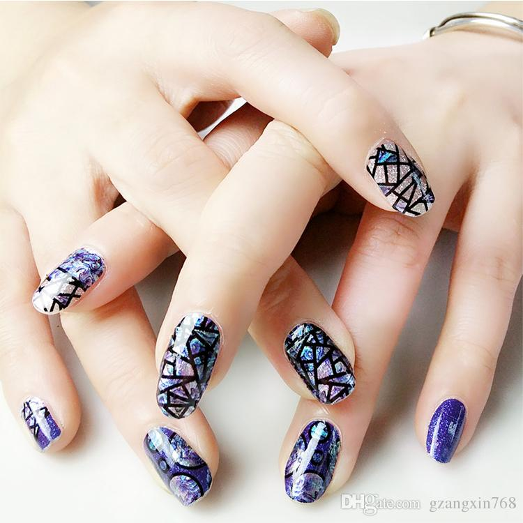 Broken Glass Mirror Style Nail Foil Halloween Nail Art Stickers Self ...