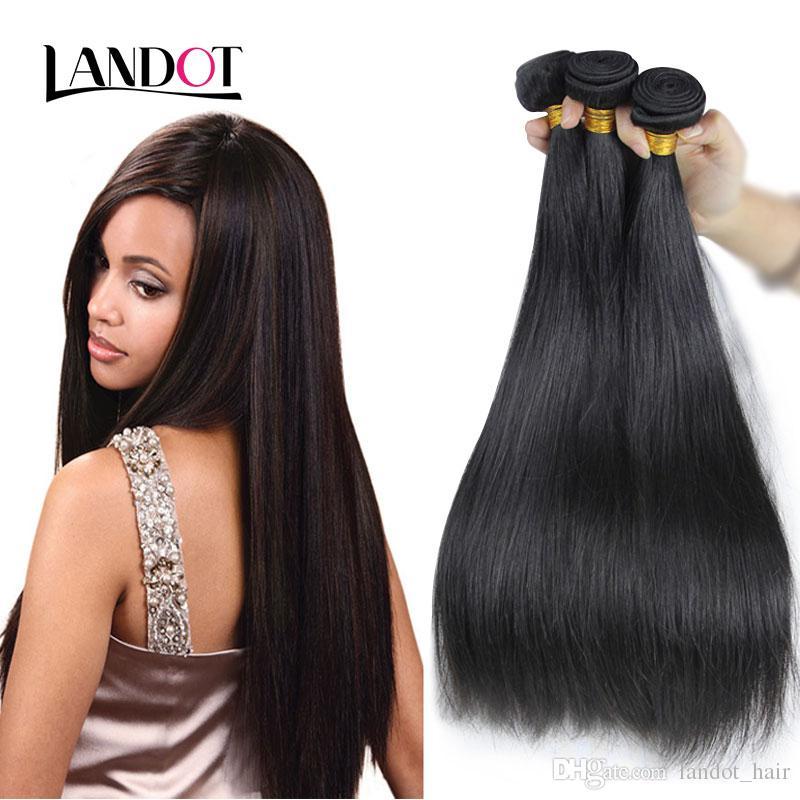 브라질 버진 머리카락 스트레이트 처리되지 않은 페루 인도 말레이시아 캄보디아 러시아어 유럽 레미 인간의 머리카락 직물 번들 자연 색상