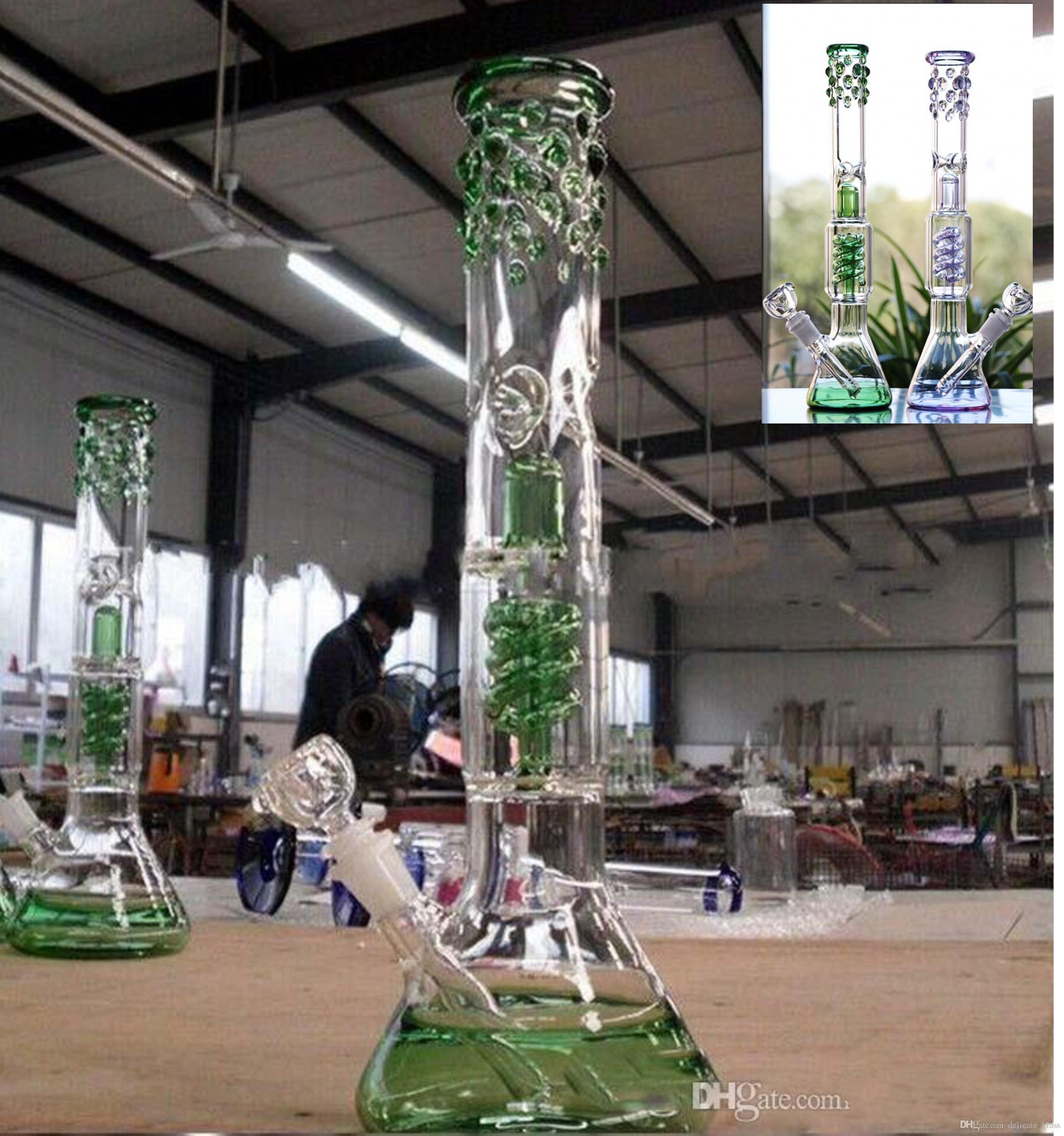 """Безопасная доставка 15 """" высокие стеклянные бонги стеклянные бонги водопроводные трубы 14.4 мм совместное утилизация нефтяных вышек кальяны пьянящие мертвые на складе курительные трубки"""