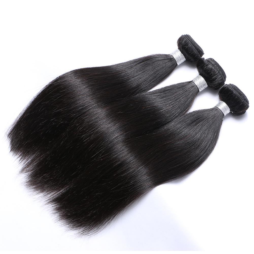GRADO TOP 7A MIXTO 3PCS 8-30 pulgadas Brasileño Virgen Human Tarjeta Natural Color Silky Straight Hair Themh Extensions Envío gratis