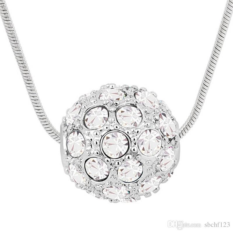Accessori di moda per le donne Pendenti di collana di cristallo realizzati con Swarovski Elements Collana a catena corta 18k placcato oro bianco 5927