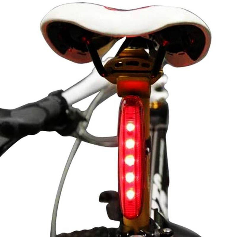 Waterproof 5 LED 3 Mode Bicycle Bike Rear Tail Lamp Light Red Brand new and good quality