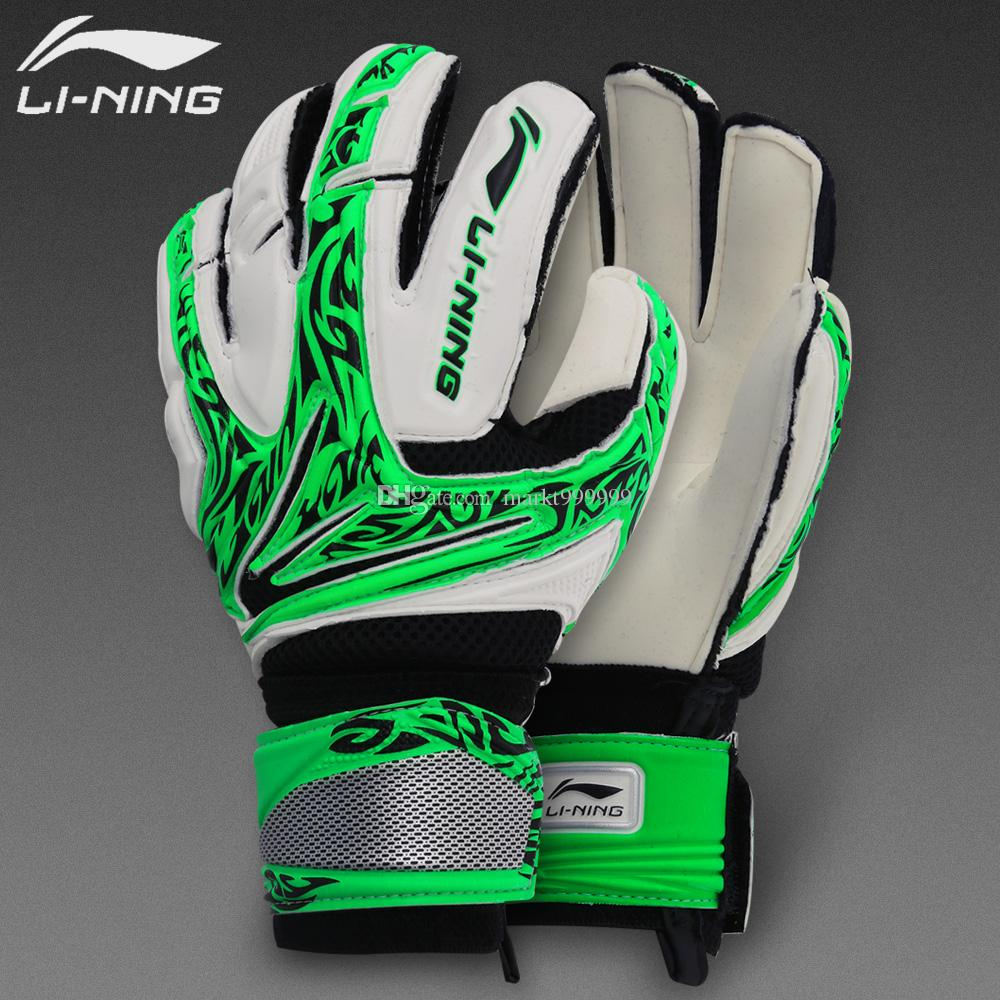 2016 male Genuine Soccer Goalkeeper Breathable training AXWK004 gloves without finger guard Slip resistant Professional Super Latex Back EVA