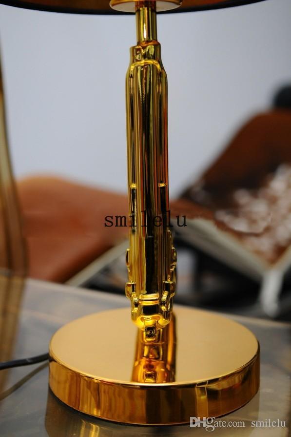 Die Moderne Pistole Chrom Modernen Stil Schlafzimmer Wohnzimmer Lampe Tischlampe