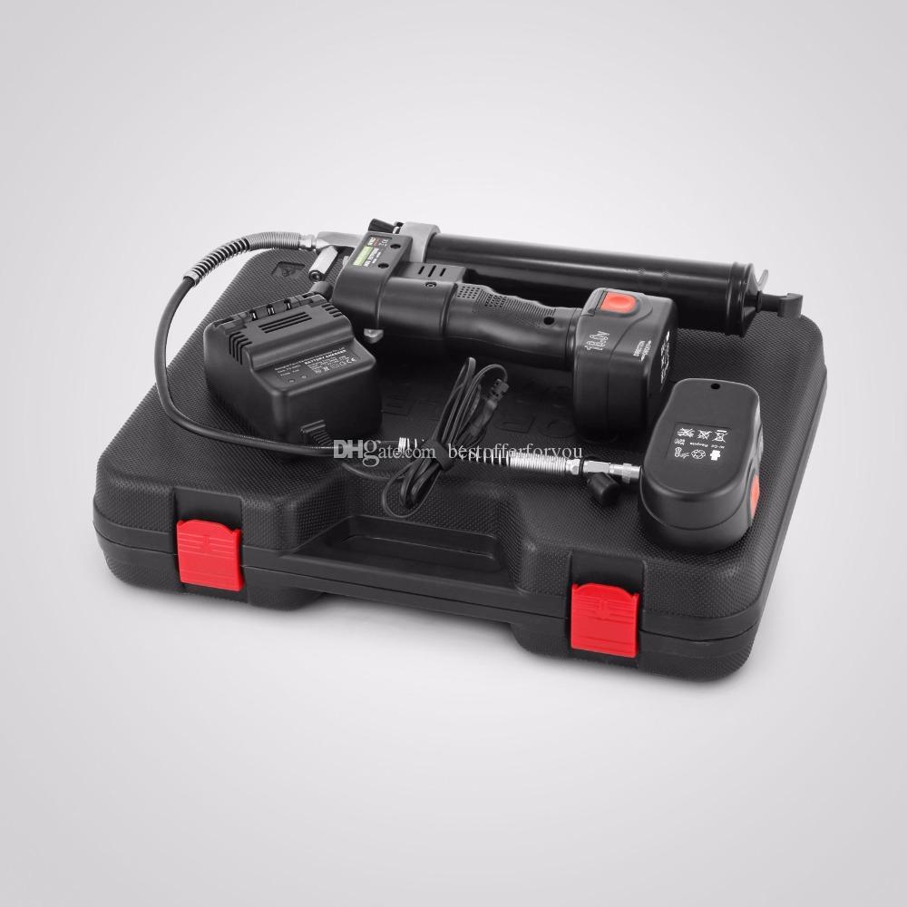 Completamente automatizzato 18 Volt senza fili Gun Gun Kit ingrassaggio macchina 18 V manuale di riempimento di massa 2 pezzi batteria