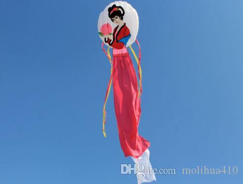 NEUES rotes Weiß 6m Energie Software-Drachenfliegen Mago feenhafter Drachen novetly China-Art im Freien