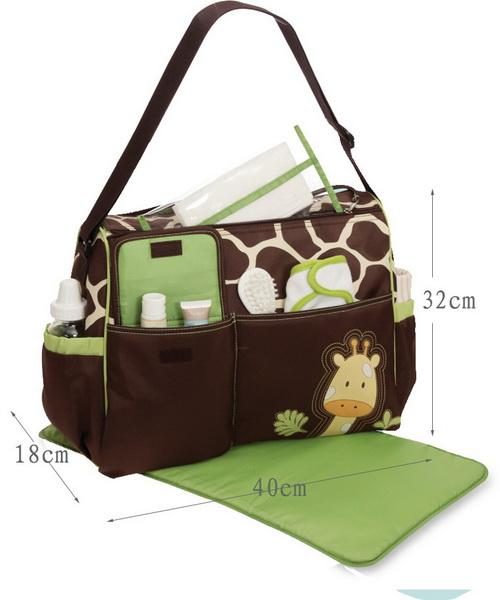 Multifunctional Mummy Bag Baby Diaper Giraffe Zebra Design Large Capacity Fashion Oblique Across Waterproof Nappy Bag