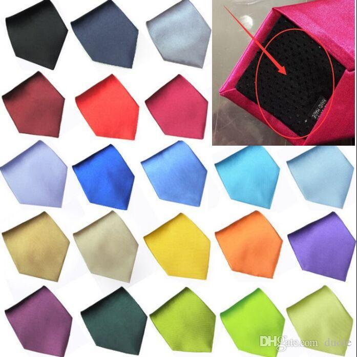 2016 HOT Solid cravatta 36 colori 145 * 10cm cravatta da uomo collo versione stretta NeckTie tempo libero freccia cravatta magro cravatte gratuito FedEx TNT
