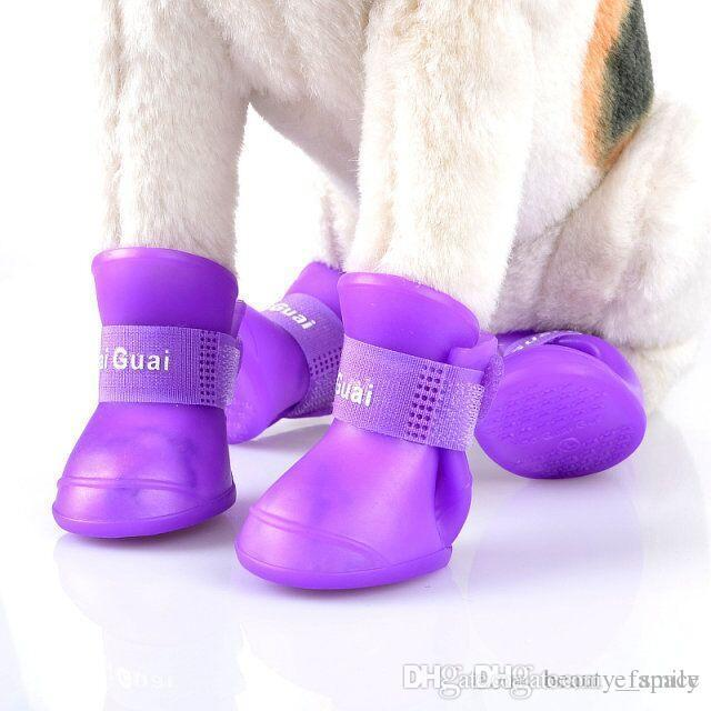D01 Buty Dog Buty Pet Buty Pet Buty antypoślizgowe Wodoodporne Buty Rasze 4 Sztuk / Set