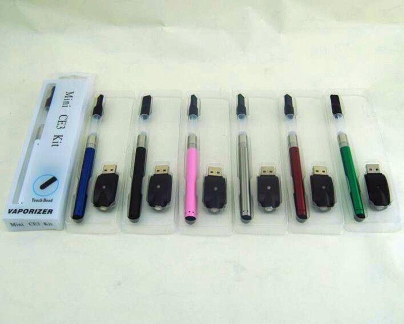 ecigarette Mini CE3 blister Kit with 280mAh O-pen vape bud touch battery USB Charger CE3 Cartridge vaporizer atomizer tank vape starter kits