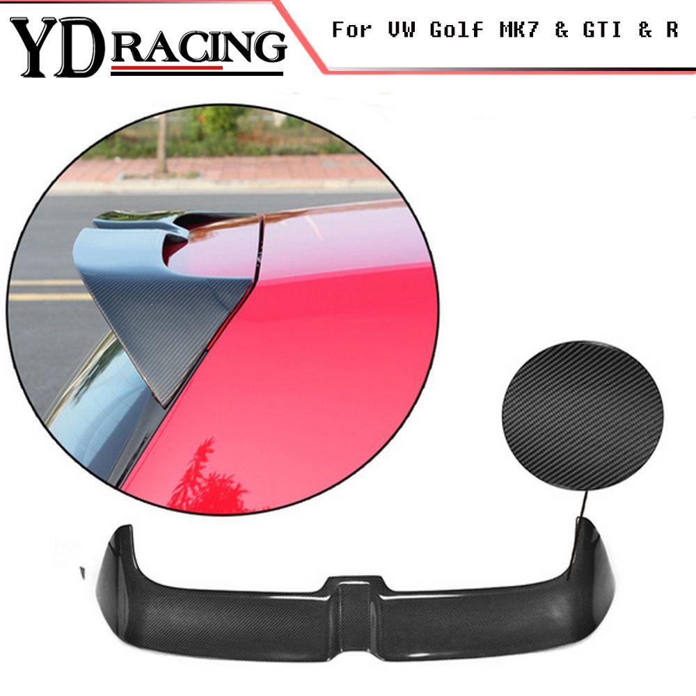Для гольфа GTI углеродного волокна автомобиля спойлер задней крыши крыла губы для Volkswagen VW Golf 7 VII MK7 GTI R Hatchblack 2014-2017