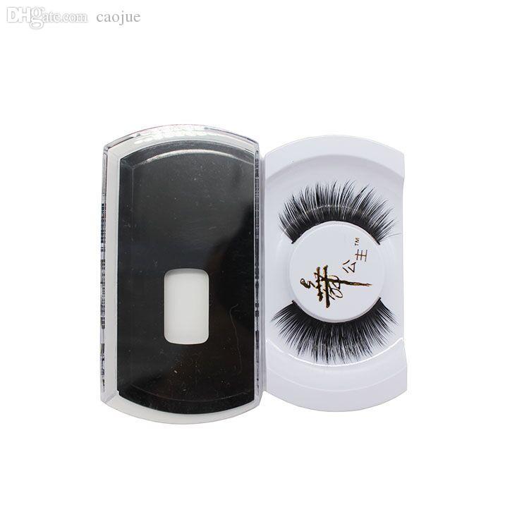 Großhandels-1 Paar-Frauen-Dame Reale schwarze handgemachte natürliche Nerz-Haar-lange starke Augen-Peitsche-falsche Wimpern