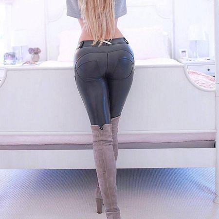 Italian Peach Hip Tight Skin Pantalones deportivos Elásticos Pantalones de belleza Pantalón de movimiento Pantalones de yoga Pantalones de cuero